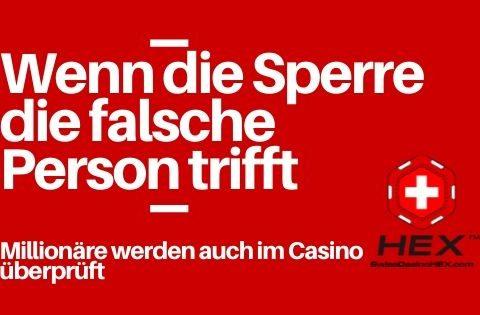 Millionäre werden auch im Casino überprüft