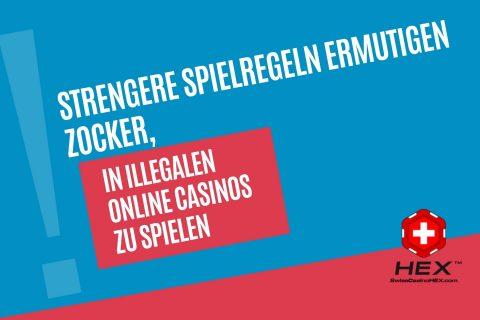 Strengere Spielregeln ermutigen Zocker in illegalen Online Casinos zu spielen