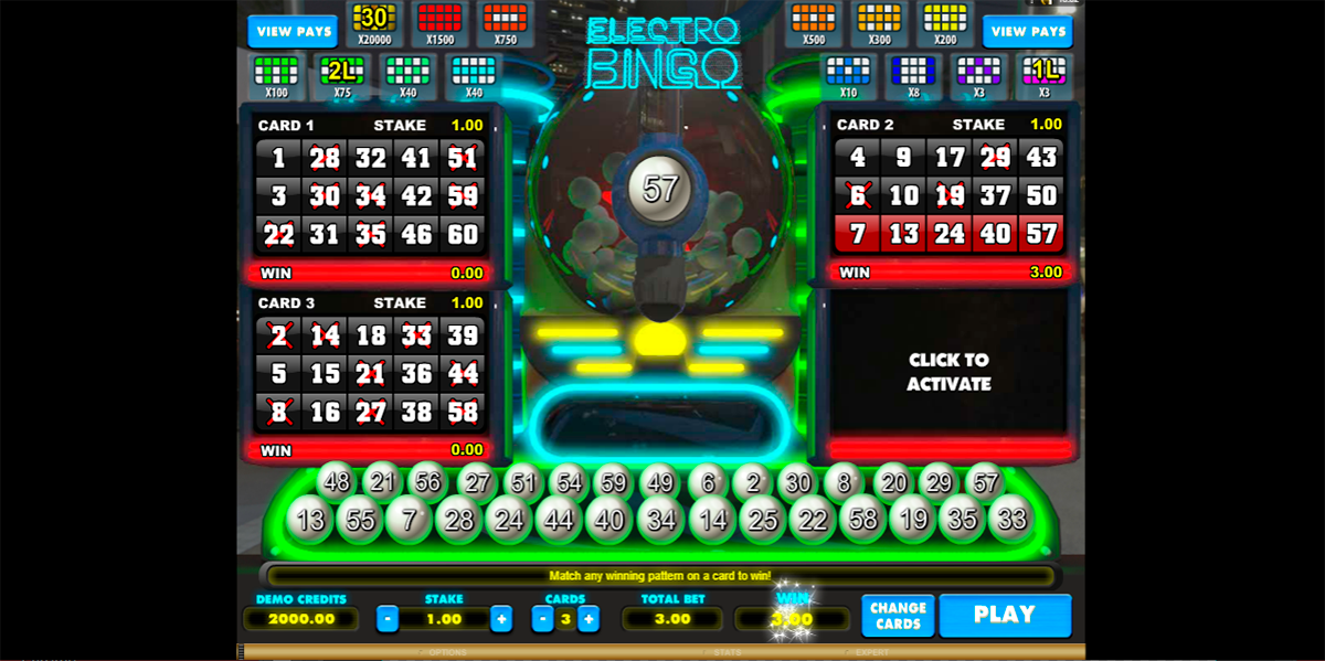 electro bingo microgaming