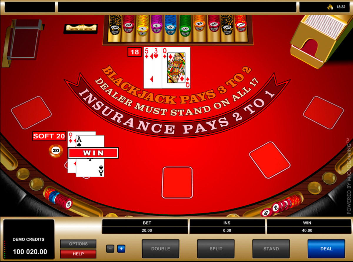 european blackjack microgaming