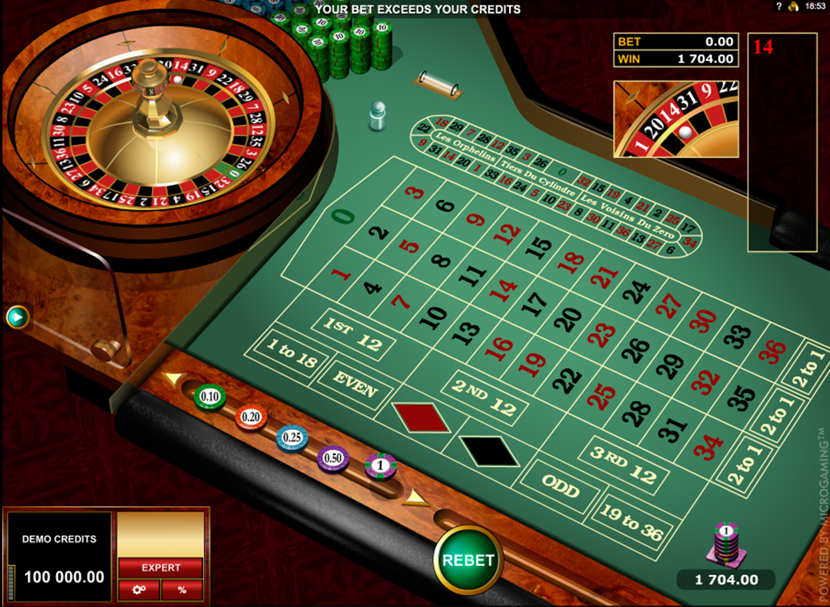 european roulette gold series microgaming