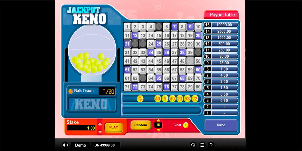 jackpot keno 1x2gaming