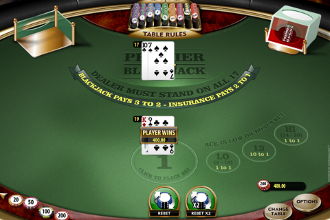 premier blackjack hi lo gold microgaming