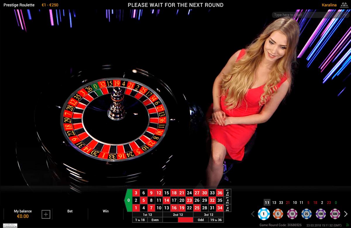 prestige live roulette playtech