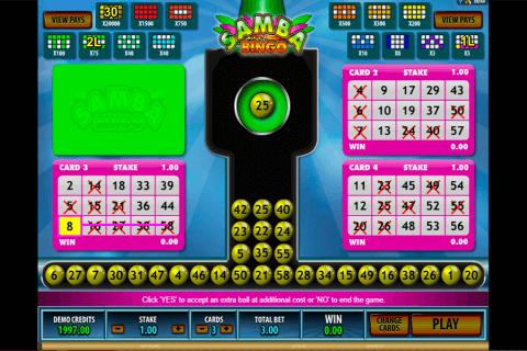 samba bingo microgaming